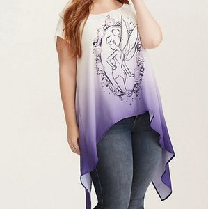 Torrid Disney Tinkerbell Ombre split back top